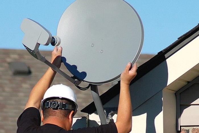 Installation satellite